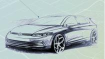Volkswagen Golf 8'in ilk resmi çizimleri ortaya çıktı