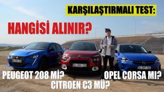 Peugeot 208, Opel Corsa ve Citroen C3 karşılaştırması! Segmentinin iddialı 3 otomobilini test ettik